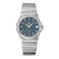 New Omega Constellation Co-axial Automatic Blue Dial S/ Steel 12310352003002
