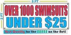 Over 1000 Swimsuits Under 25 Banner Sign New Larger Size Best Quality For The