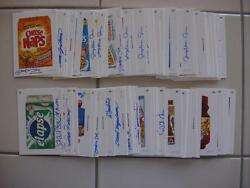 2015 Topps Wacky Packages Series 1 Complete Set 110 Wacky Artist Autograph Cards