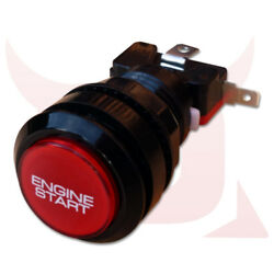 Red And Black Car Engine Push Press Start Starter Button Led Lit Momentary
