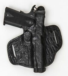 On Duty Conceal Rh Lh Owb Leather Gun Holster For Ruger Gp-100 3 Inch