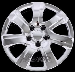 16 Set Of 4 Chrome Wheel Covers Snap On Full Hub Caps Fit R16 Tire And Steel Rim