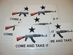 50 Come And Take It Decals 4 Hunting Military Ak 47 Wholesale Bumper Stickers