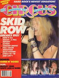 Circus September 30 1989 Skid Row Sebastian Bach 110717nondbe