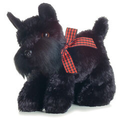 AURORA FLOPSIE Stuffed Plush Toy SCOTTIE SCOTTISH TERRIER Bean Filled PUPPY DOG