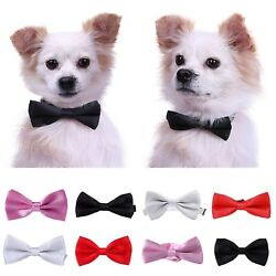 Adjustable Pet Bowtie Collar Formal Bow Tie Dog Puppy Cat Kitty Accessory $8.99