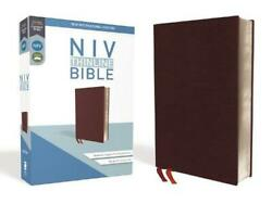 Niv, Thinline Bible, Bonded Leather, Burgundy, Red Letter Edition, Comfort Print