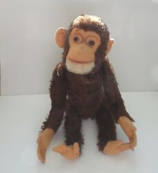 Well Loved Schuco 18 Mohair Yes - No Monkey, C. 1950's