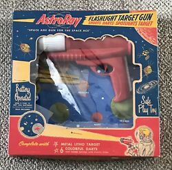 Ohio Art Astroray Gun Astro Ray Boxed Vintage C. 1960 With Target And Darts