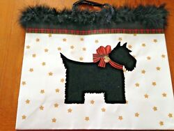 Large Embellished Scottish Terrier Gift Bag NEW