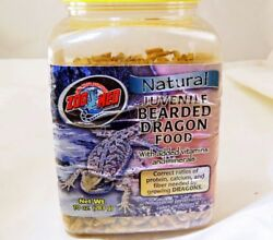Zoo Med Natural Juvenile Bearded Dragon Food with vitamins 10 OZ EXP 08-2017
