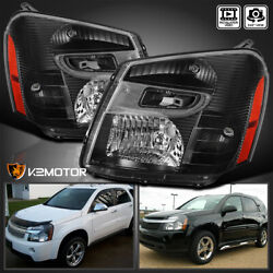 Black For 2005 2009 Chevy Equinox Replacement Headlights Lamps LeftRight 05 09 $144.38