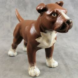 AMERICAN PIT BULL STAFFORDSHIRE TERRIER DOG Cast Iron HEAVY DOORSTOP STATUE