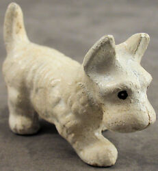WHITE WEST HIGHLAND TERRIER WESTIE Cast Iron MINIATURE STATUE PAPERWEIGHT