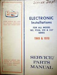 Factory Avionic Wiring Book 1969 And 1970 Cessna 182 P206 210 And 337