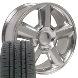 Oew Fits 20x8.5 Wheel Tire Chevy Tahoe Polished Rims W/tires 5308