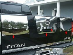 For 2004-2013 Nissan Titan 4 Piece Stainless Tailgate Handle Accent Trim