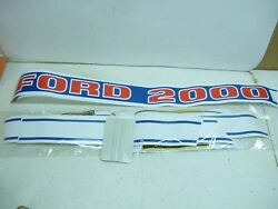 2000 Ford Complete Decal Kit For Diesel 2100 Tractors Oem Ford Set