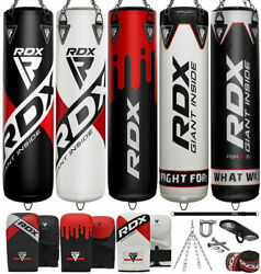 Rdx Heavy Punching Bag Kick Boxing Gloves Chains Brackets Mma Training Unfilled