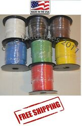 Trailer Light Cable Wiring 14 Ga. 100' Spools X 7 Rolls Copper Stranded Usa