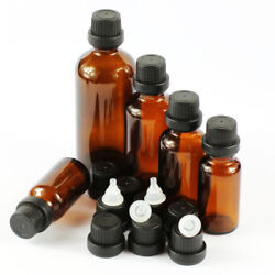 Wholesale 5100ml Amber Glass Thick With Caps Dropper Essential Oil Bottles Jars