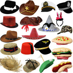 Fancy Dress Hats Choose From Novelty Character Photobooth Hat Prop Party Hat Lot