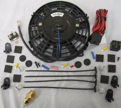7 Universal Electric Radiator Cooling Fan + Thermostat Relay Install Kit 210anddeg