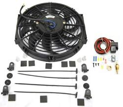 12 S-blade Heavy Duty Electric Radiator Cooling Fan + Thermostat Relay Kit