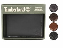 Menand039s Genuine Leather Passcase Credit Card Id Billfold Wallet
