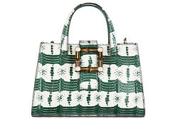 GUCCI WOMEN'S LEATHER HANDBAG SHOPPING BAG PURSE NEW NYMPHAEA GREEN FC8