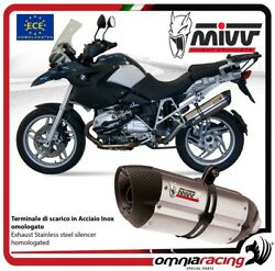 MIVV SUONO exhaust slip-on homologated inox for BMW R1200GS 2008