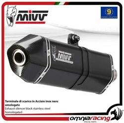 MIVV SPEED EDGE exhaust slip-on homologated black inox for BMW R1200GS 2008