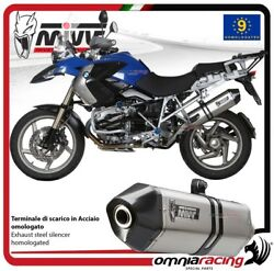 MIVV SPEED EDGE exhaust slip-on homologated inox for BMW R1200GS 2008