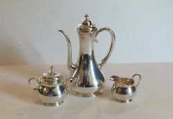 And Co. Sterling Silver 3-piece Demitasse Set, 9479