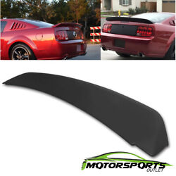 For 2005-2009 Ford Mustang Gt500 Ducktail Style Black Matte Rear Trunk Spoiler
