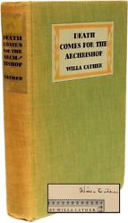 Willa Cather - Death Comes For The Archbishop - Signed By Cather
