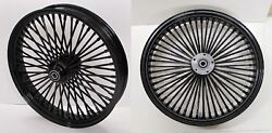 Dna Mammoth Fat 52 Spoke Black 21x2.15 16x3.5 Wheels And Whitewall Tires Sportster