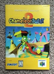 (Nintendo 64) Chameleon Twist 2 Only Instruction Booklet Manual