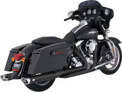 Vance And Hines Black Dresser Duals Headers - Harley 09-19 Touring