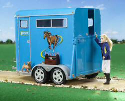Breyer traditional series size two horse trailer realistic well done 2617