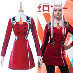 Darling In The Franxx Zero Two Code002 Cosplay Costume Complete Outfit Uniform