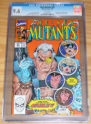 New Mutants 87 Cgc 9.6 Rob Liefeld - 1st Appearance Of Cable - 1st Print Marvel