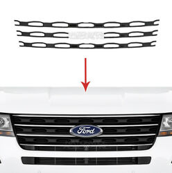 Black 2016 2017 Ford Explorer Snap On Grille Overlays Front Grill Trim Covers