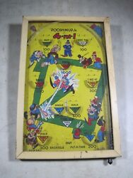 Antique 1930's Poosh-m-up Jr Tabletop Pinball Game Northwestern Products Usa