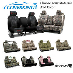 Coverking Custom Front And Rear Row Skanda Camo Seat Covers For Toyota Truck/suv