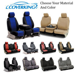 Coverking Custom Front, Middle, And Rear Seat Covers For Chrysler Town And Country