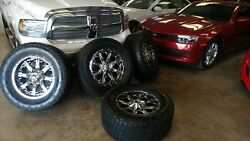 Fuel Nutz Pvd Chrome 20 20x9 With All-terrain Nitto Lt325/60r20 Great Condition