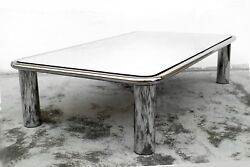 Gianfranco Frattini Design Big Mirror Coffee Table 621 Years 70 By Cassina Italy