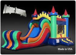 Inflatable Bounce House Castle Combo With Slide