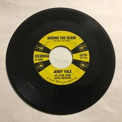 Jerry Vale Go Chase A Moonbeam / Around The Clock 7 45 Rpm Columbia Vg+